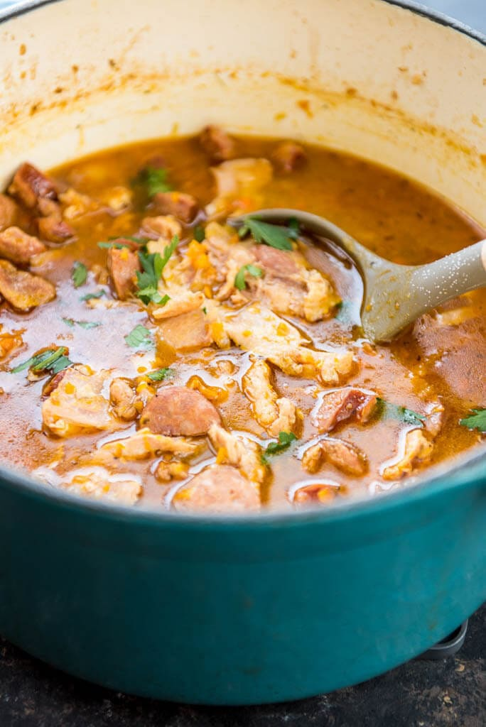 Smoked Chicken and Sausage Gumbo is a great reason to fire up your pellet grill or smoker and make some delicious cajun food!