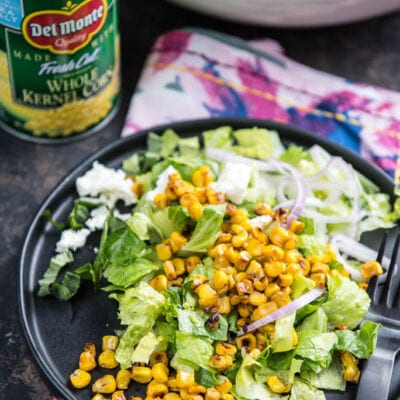 Roasted Corn Chopped Salad with Lemon Vinaigrette